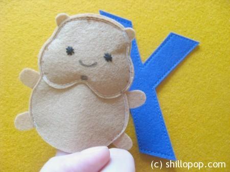 хомяк пальчиковая игрушка Азбука из фетра алфавит выкройки фетр