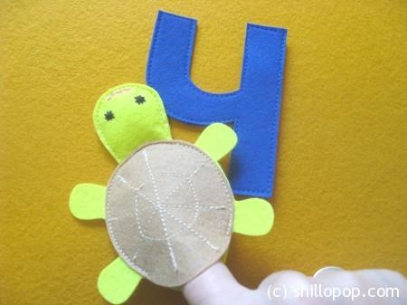 черепаха пальчиковая игрушка Азбука из фетра алфавит выкройки фетр