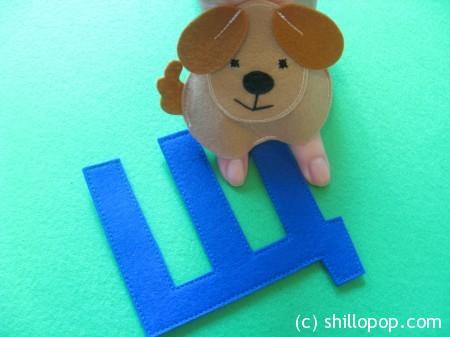 щенок пальчиковая игрушка Азбука из фетра алфавит выкройки фетр