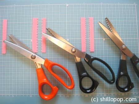4 фигурные ножницы для фетра
