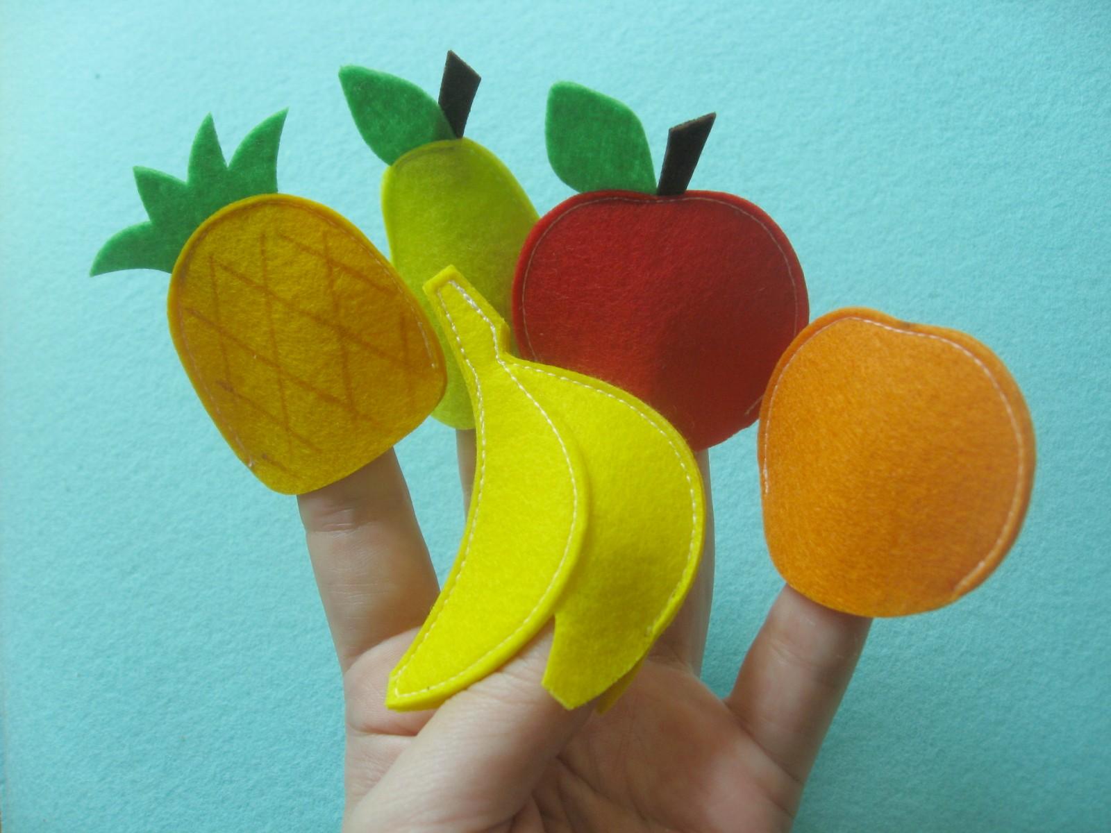 овощи фрукты пальчиковые игрушки из фетра выкройки