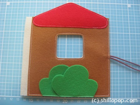 Zigzag Felt Quiet Book The Forest House  PDF pattern tutorial how to