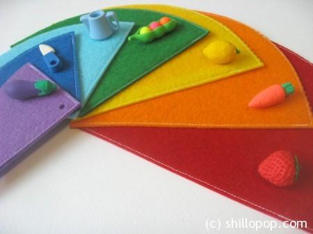 Rainbow Felt Book for Kid's Colouring Activities