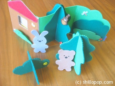Zigzag Felt Quiet Book The Forest House  Busy book felt bear felt  bunny toys