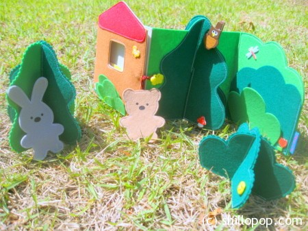 Zigzag Felt Quiet Book The Forest House  pretend play