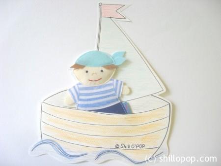 Морячок - шагающая пальчиковая игрушка 1