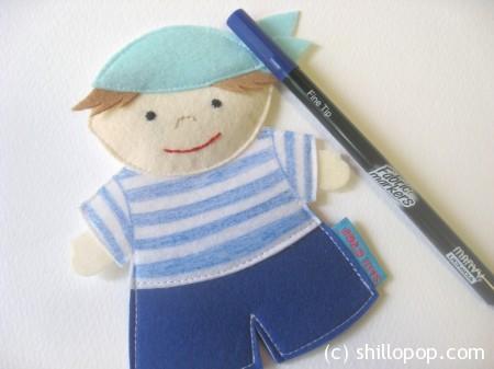 Морячок - шагающая пальчиковая игрушка 2