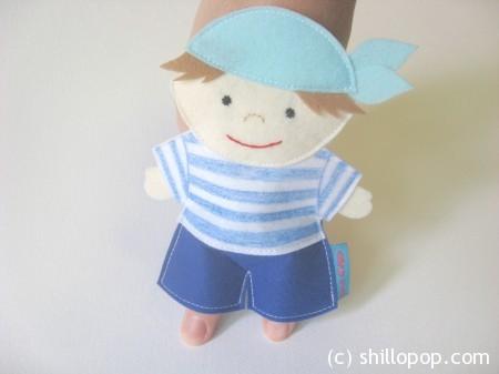 выкройки игрушек из фетра морячок шагающая пальчиковая игрушка