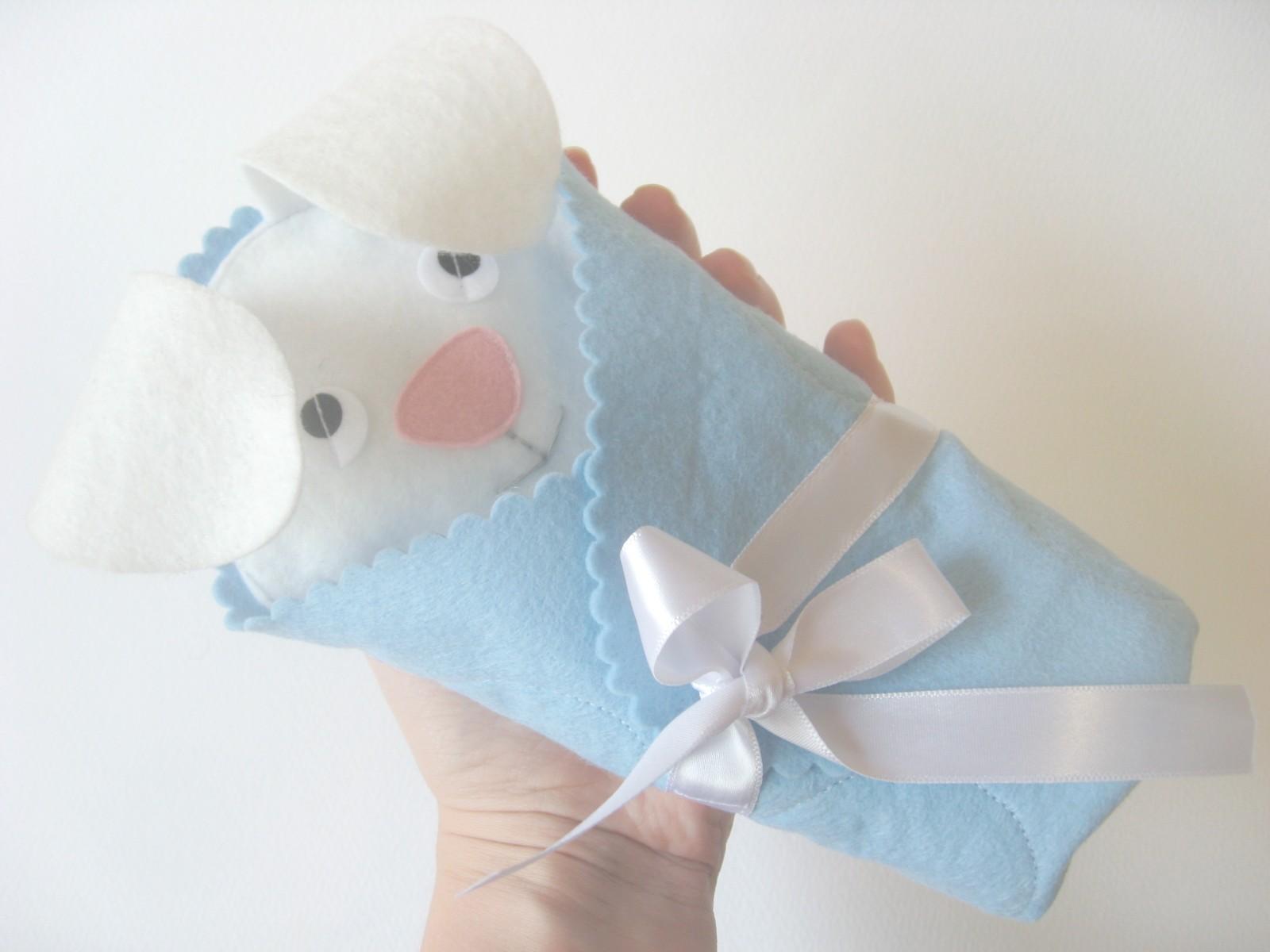 зайка в одеяле мягкая игрушка из фетра выкройки зайчик
