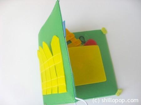 развивающая книжка из фетра выкройки огород  2