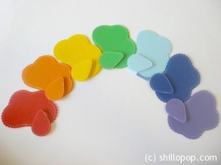 дождик тучи учим цвета игрушки из фетра 4