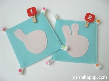 математические карточки счет на пальцах фетр 6