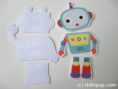 роботы пазлы из фетра 3