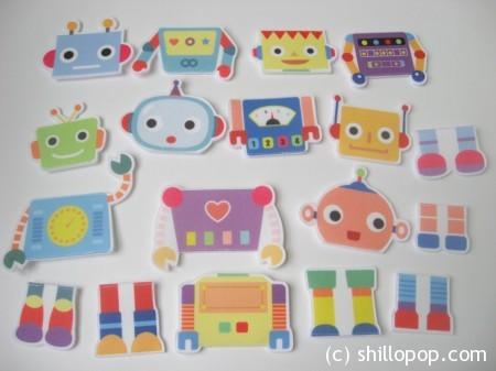 роботы пазлы из фетра 4
