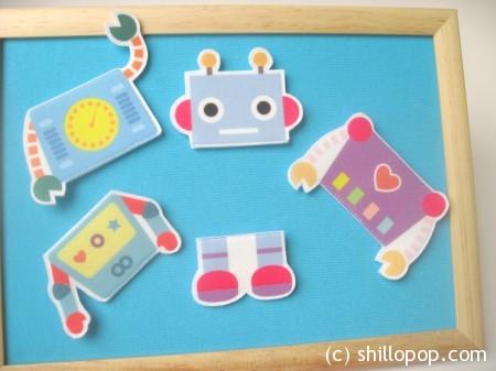 роботы пазлы из фетра 5