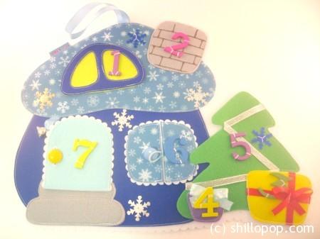 адвент календарь домик из фетра выкройки синий шиллопоп