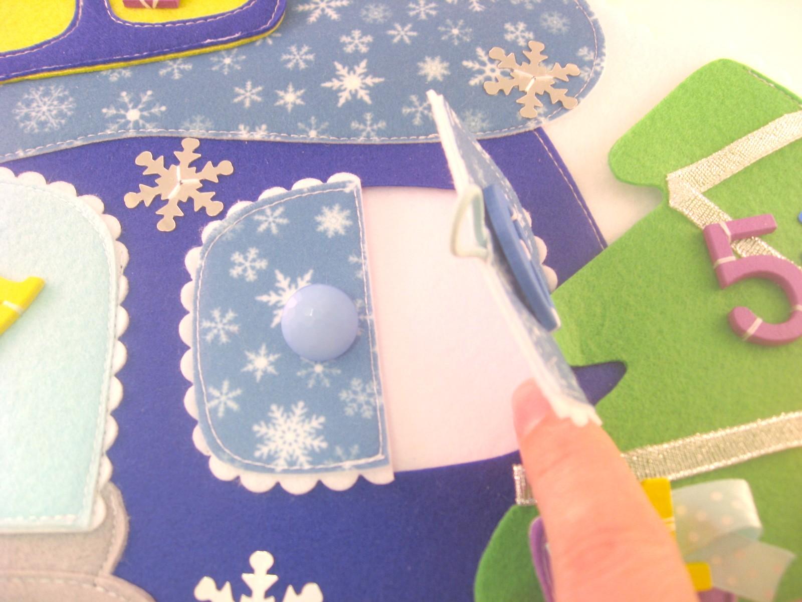 адвент календарь домик из фетра выкройки синий шиллопоп shillopop