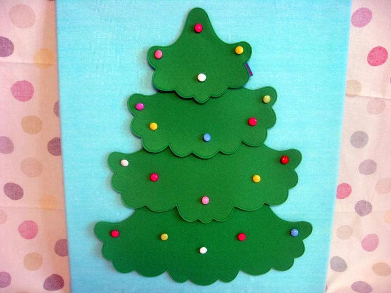 выкройка елочка пазл из фетра ковролинограф новогодние игрушки для детей