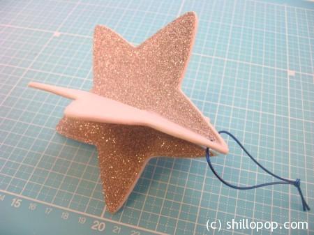 мастер класс новогодняя елочная игрушка из фетра звезда 11