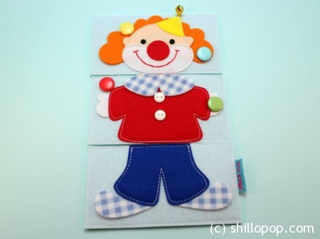 выкройки игрушек из фетра пазлы клоуны