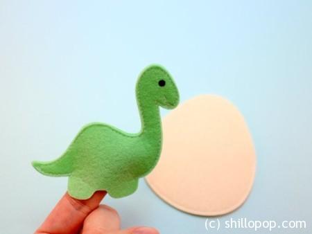 как сшить пальчиковую игрушку динозавра из фетра выкройки 10-2