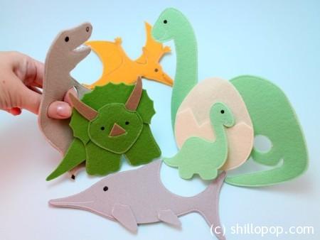 Пальчиковые игрушки из фетра динозавры выкройки