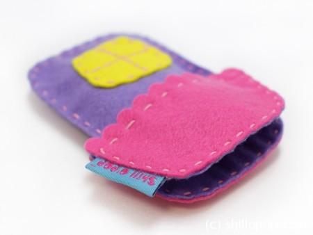 Игрушка из фетра в кармашек выкройки мишка зайчик домик 3
