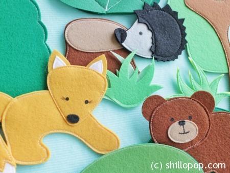 дикие животные игрушки из фетра для ковролинографа выкройки 3