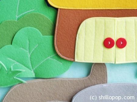 игрушки из фетра на липучках ковролинограф выкройки 9