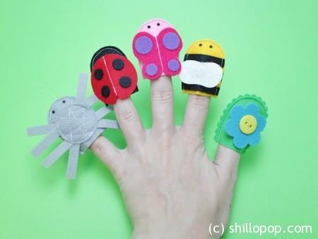 пальчиковый театр из фетра насекомые выкройки развивающих игрушек