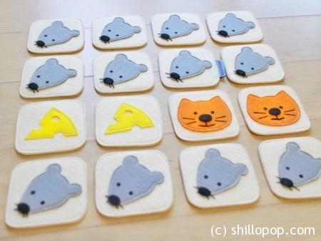 развивающая игра из фетра для детей кошки-мышки выкройки