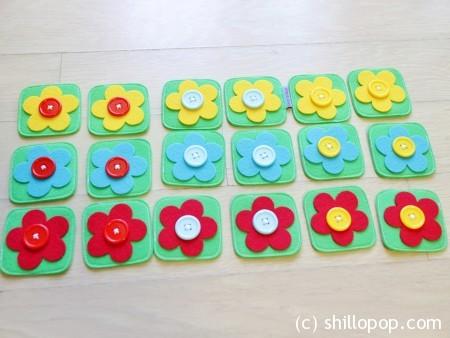 как сшить мемори из фетра игра для малышей