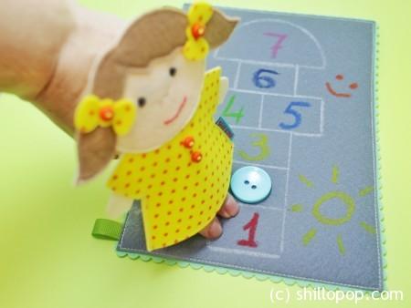шагающая пальчиковая игрушка выкройки развивающих игрушек из фетра 6