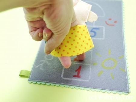 шагающая пальчиковая игрушка выкройки развивающих игрушек из фетра 7