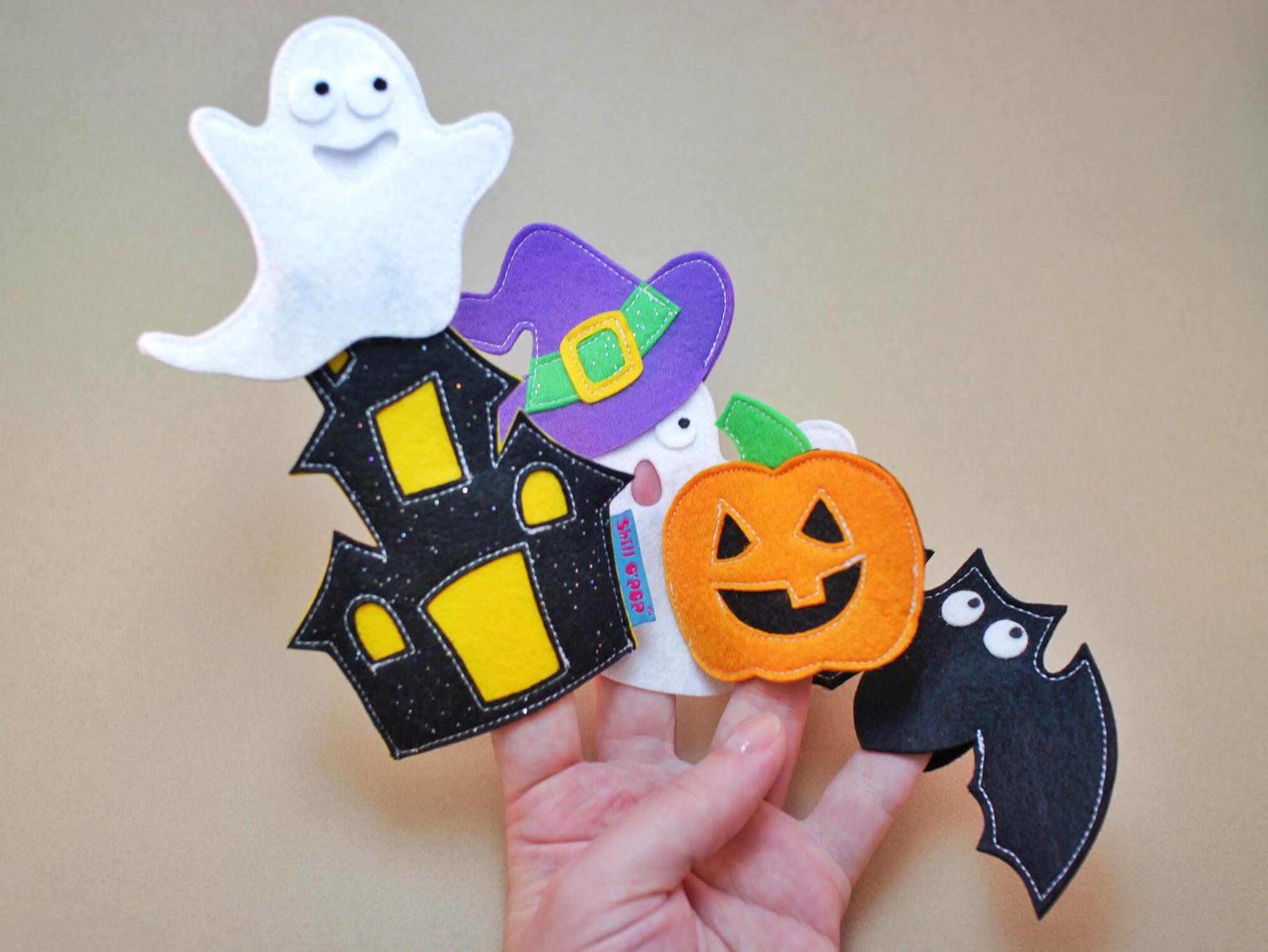 хеллоуин пальчиковые игрушки из фетра выкройки