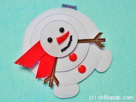 пазл снеговик из фетра с липучками выкройки мастер-класс 1