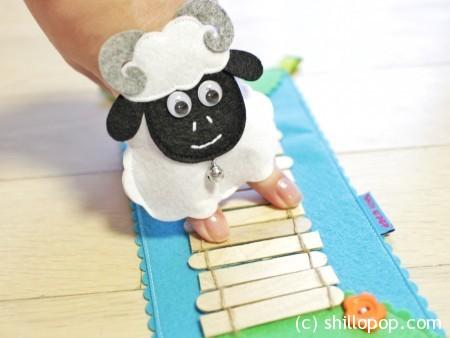 пальчиковые игрушки из фетра сенсорная дорожка выкройка бараны михалков 4