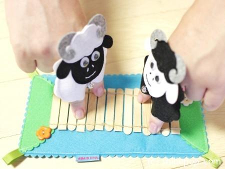 пальчиковые игрушки из фетра сенсорная дорожка выкройка бараны михалков 6