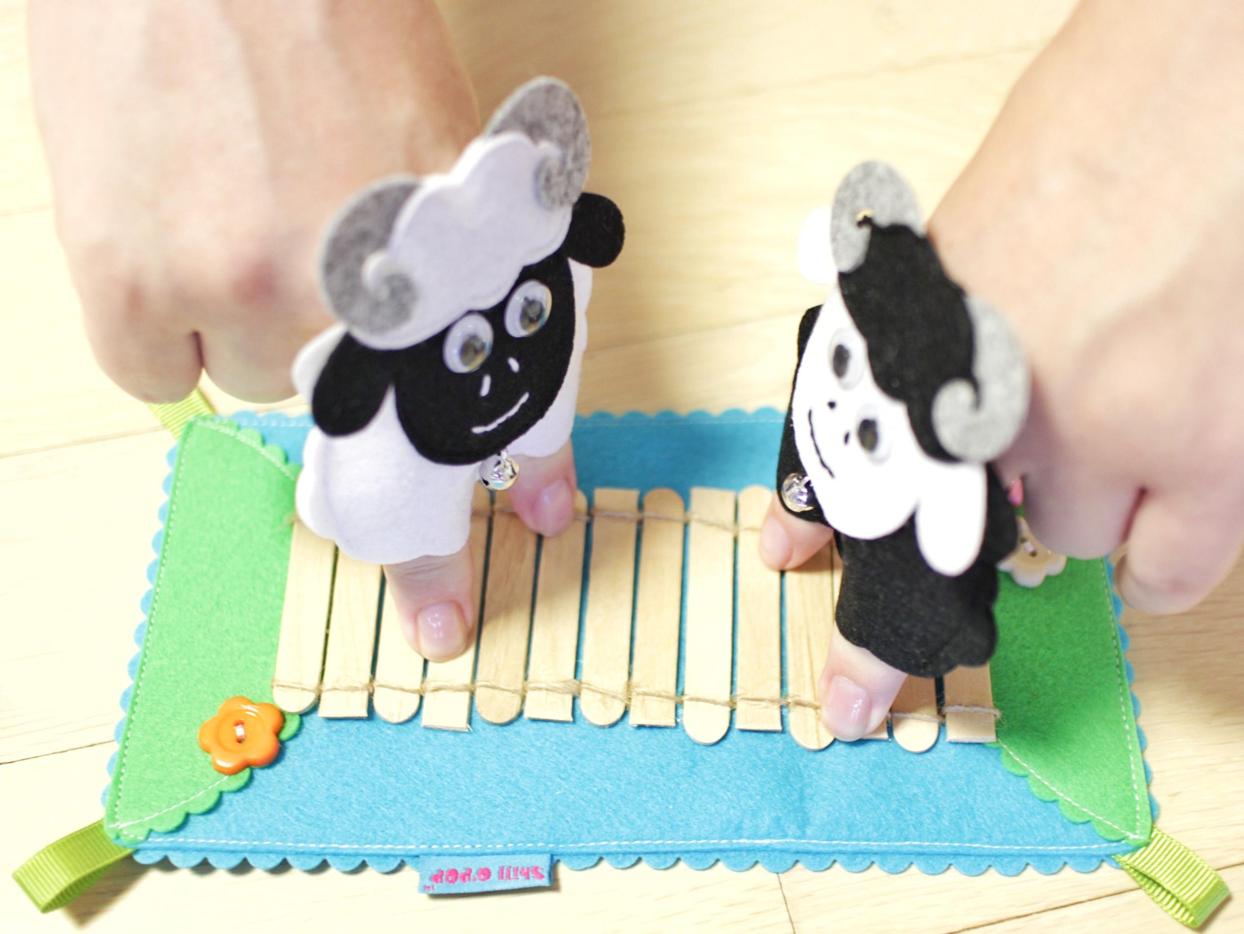 пальчиковые игрушки из фетра сенсорная дорожка выкройка бараны михалков