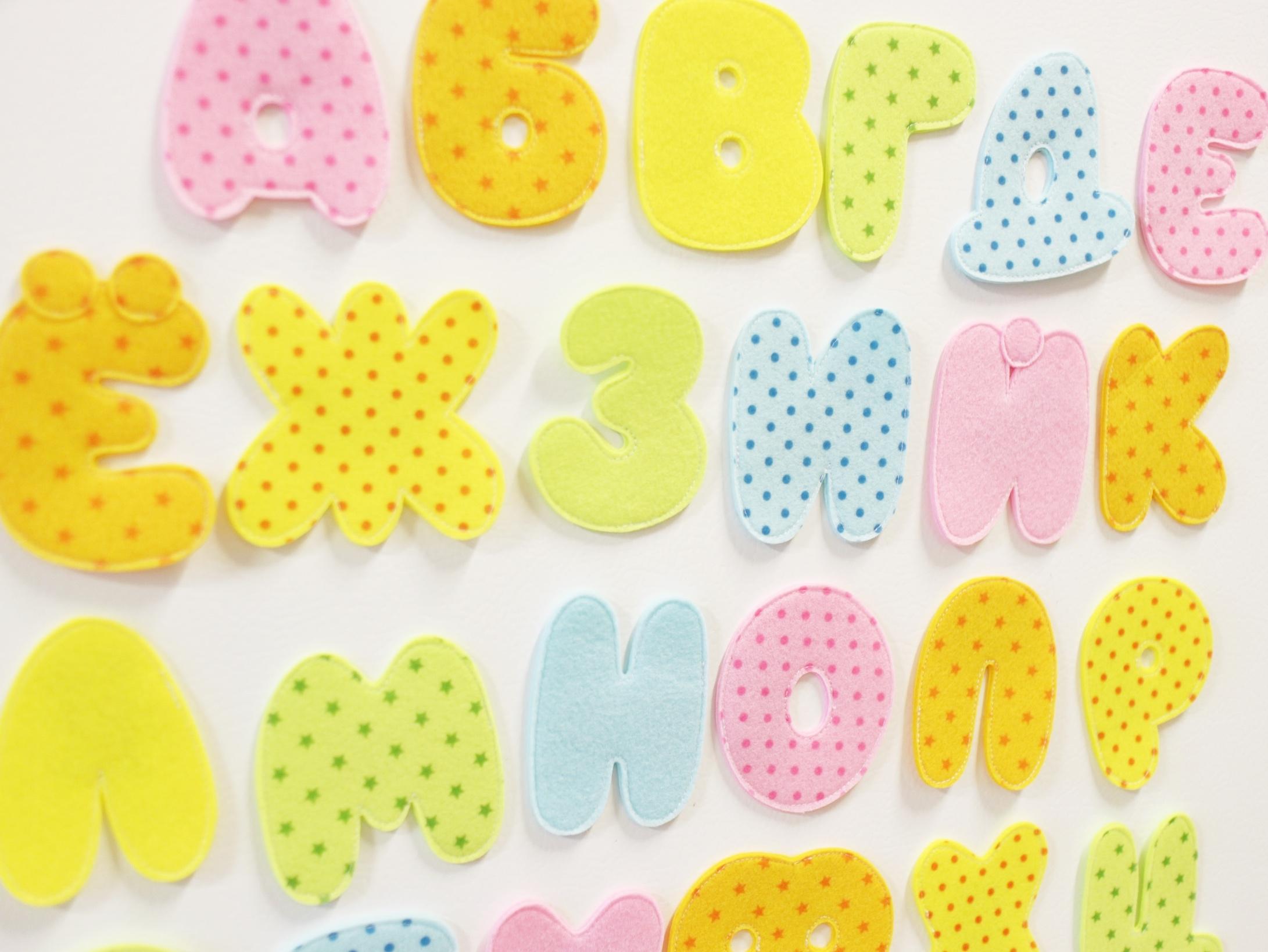 буквы из фетра выкройки букв из фетра мастер-класс буквы с магнитами