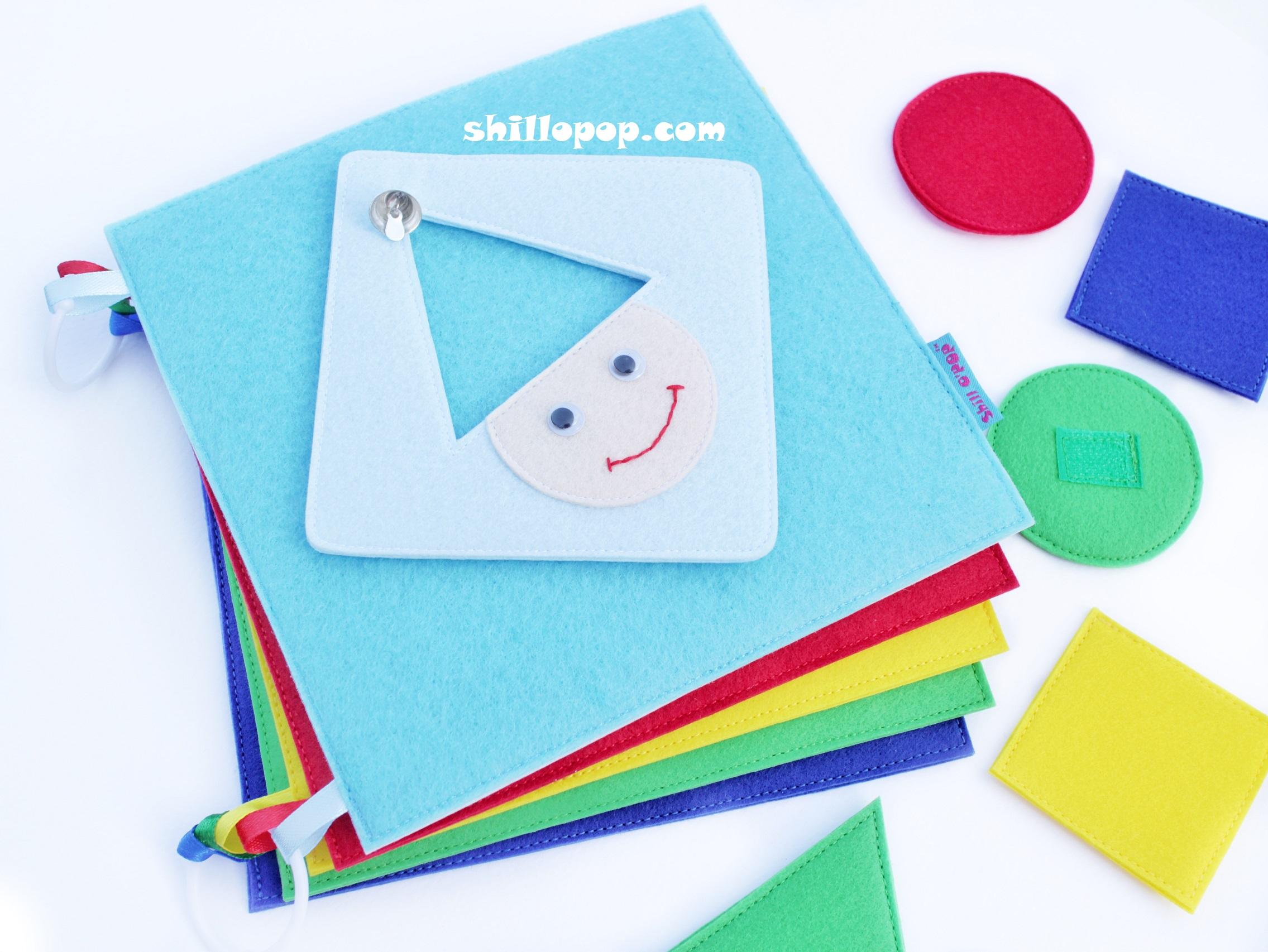 выкройки развивающей книжки из фетра мастер-класс цвет форма величина