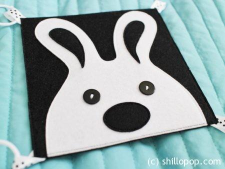 черно белая контрастная книга для малышей из фетра выкройки 3