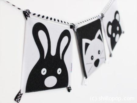 черно белая контрастная книга для малышей из фетра выкройки 7