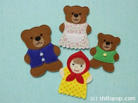 выкройки сказка три медведя из фетра мастер-класс
