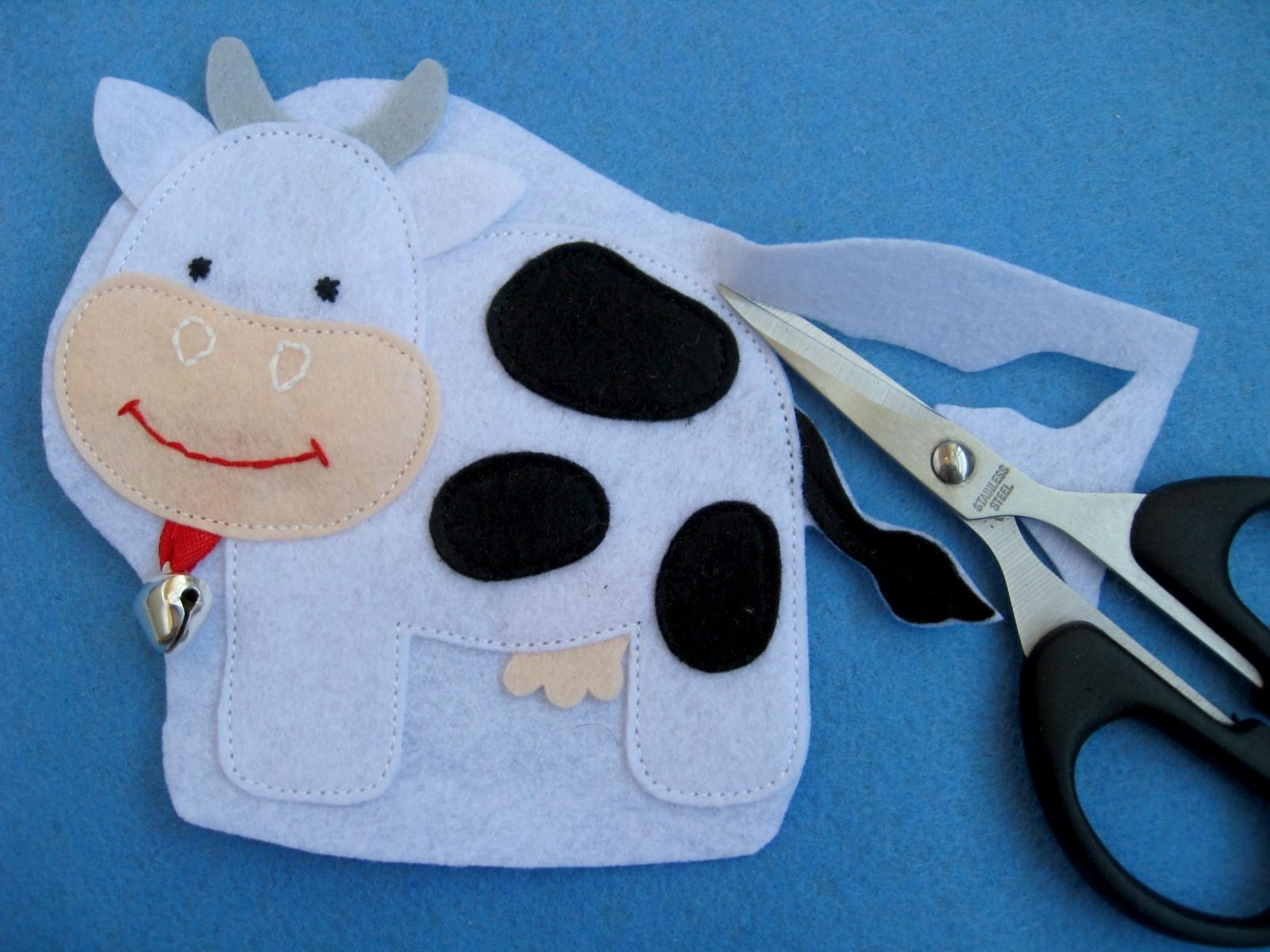 мастер-класс корова домашние животные из фетра